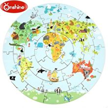Onshine Wooden Jigsaw Puzzle - World Map - RightToLearn.com.sg