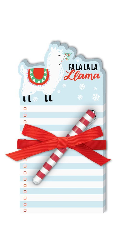Fa La La La Llama Notepad and Pen Set