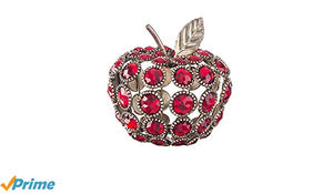 Red Jeweled Metal Apple