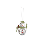 Teeny Mistletoe Snowman Ornament