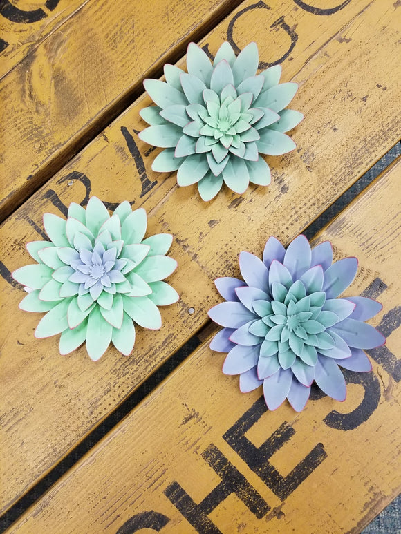 Succulent Flower Wall Decor