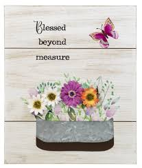 'Blessed Beyond Measure' Wooden Plaque