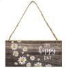 Happy as a Daisy Wooden Signs