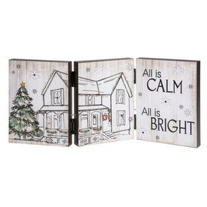All is Calm Accordion Light Up Sign