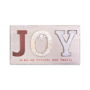 JOY To All Placard