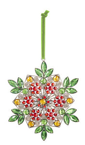 Colorful Holiday Snowflake Ornament