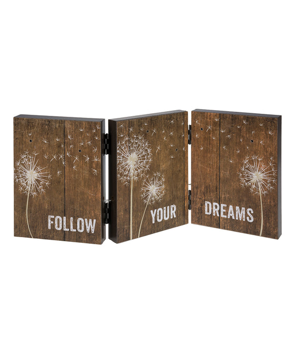 'Follow Your Dreams' Dandelion Light-Up Accordion Sign