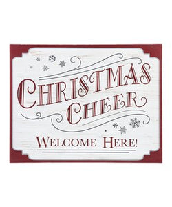 Christmas Cheer Welcome Here!  Wall Sign