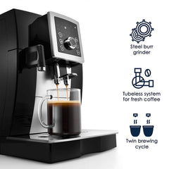 Smart Espresso & Cappuccino Maker in Black