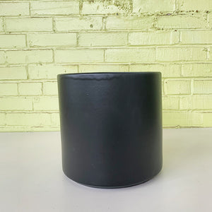 Deep Cylinder Planter Matte Black