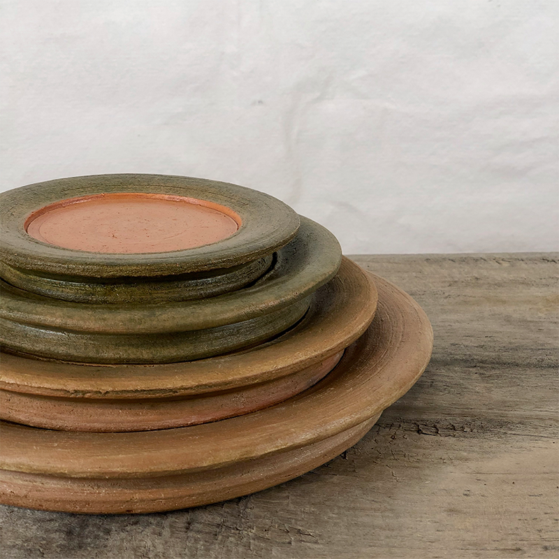 Aged Terracotta Saucer