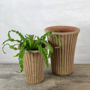 Aged Striato Tall Planter
