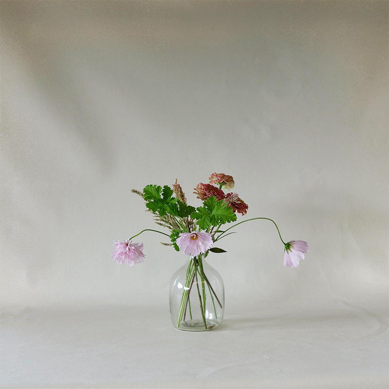 Round Glass Vase Clear Small