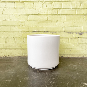 Deep Cylinder Planter Matte White