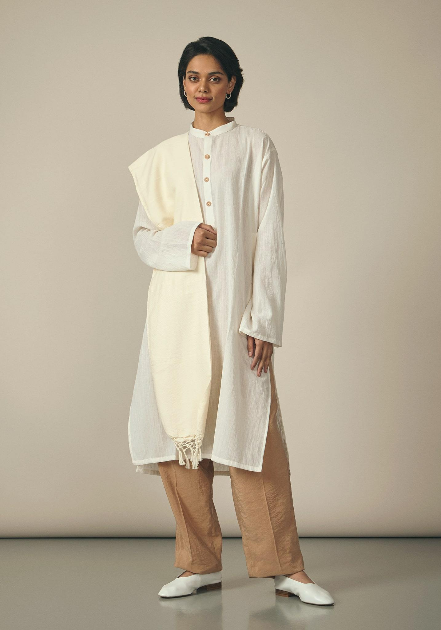 Koel, Cotton Natural Kurta