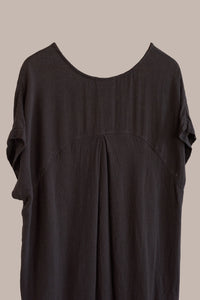 Black Crane, Cocoon Dress Black