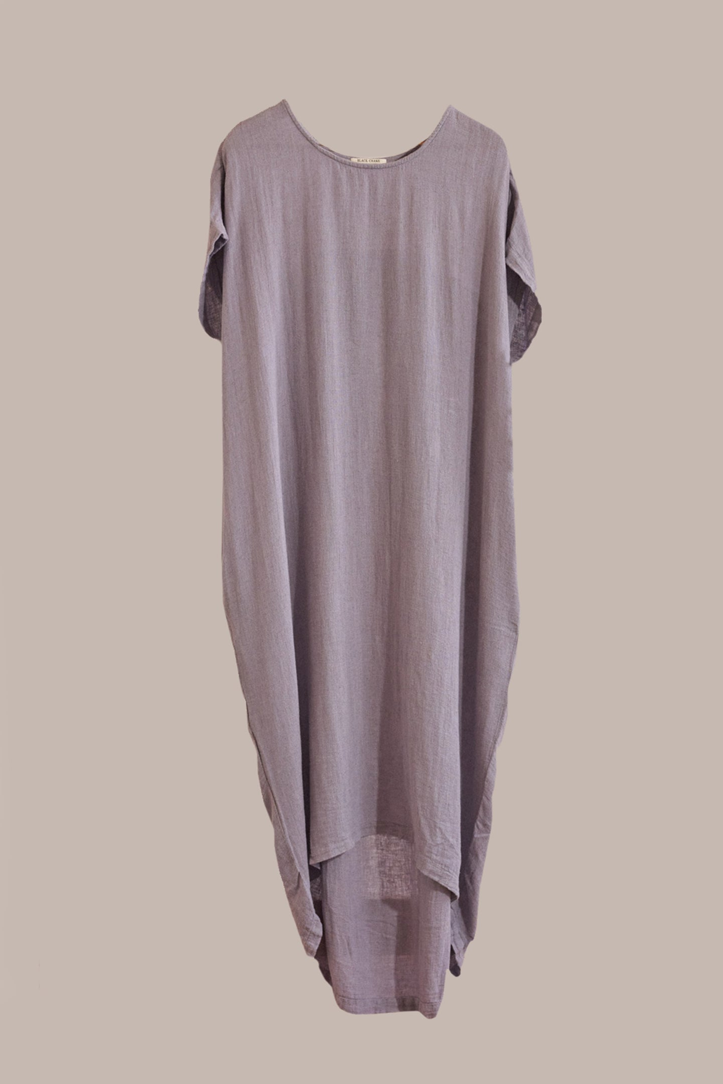 Black Crane, Cocoon Dress Lavender