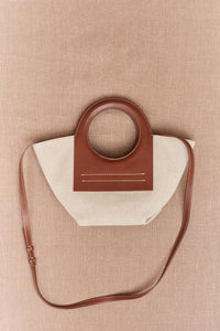 Hereu, Cala Mini Canvas and Leather tote