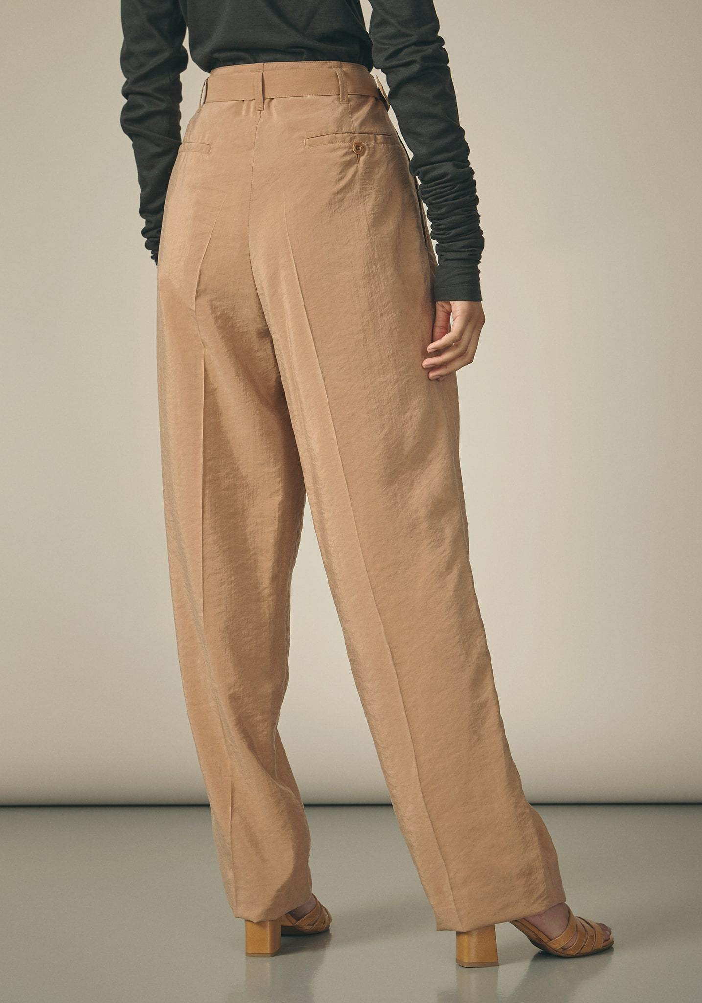 Lemaire, Dry Silk Tan Trousers