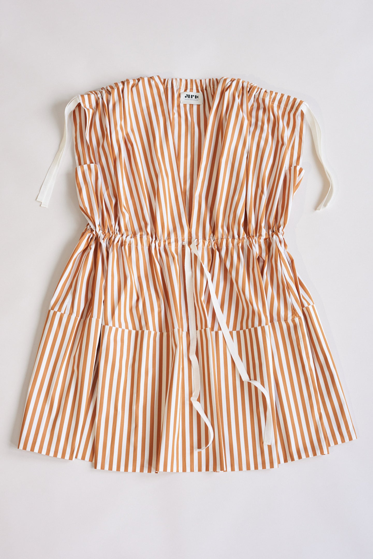 Maison Rabih Kayrouz, Stripe Poplin Dress Terracotta