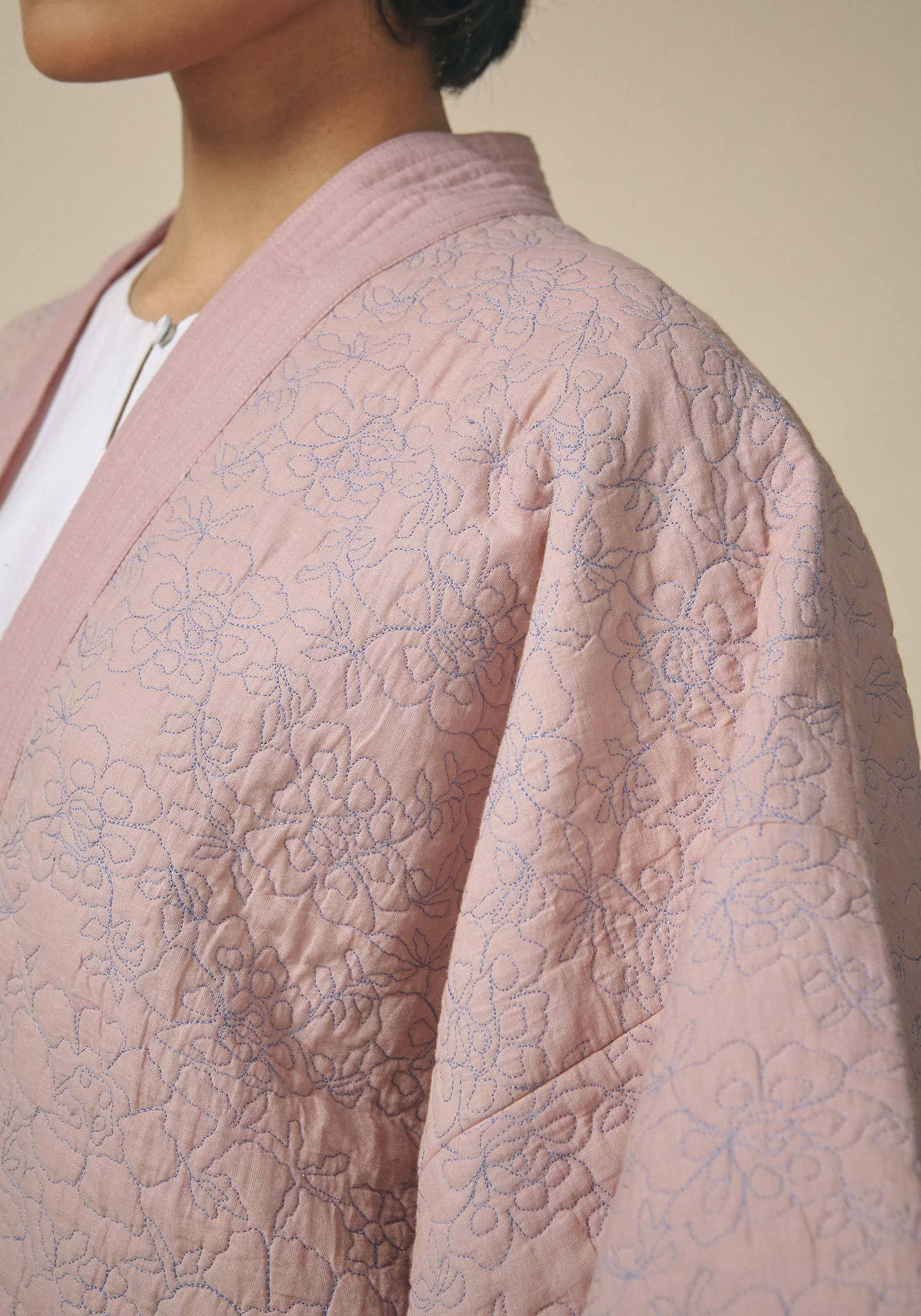 Untitled Co., Quilted Wrap Kimono Jacket