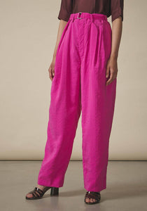 Lemaire, Fuchsia  Pleated Trousers