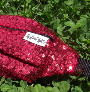 Red Sequin Fanny Pack