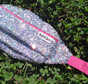 Silver Holographic Sequin Fanny Pack