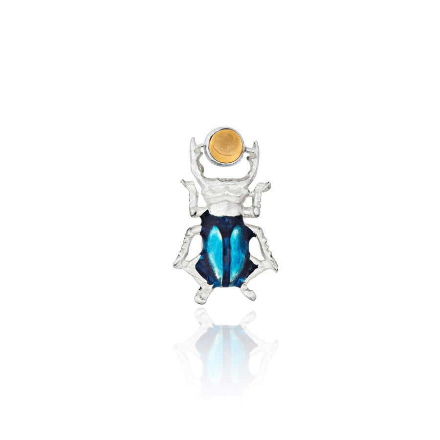 PENDIENTES MINI BLUE BEETLE