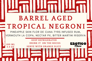 BARREL AGED TROPICAL NEGRONI [ready to drink] 118 ML (4 OZ)