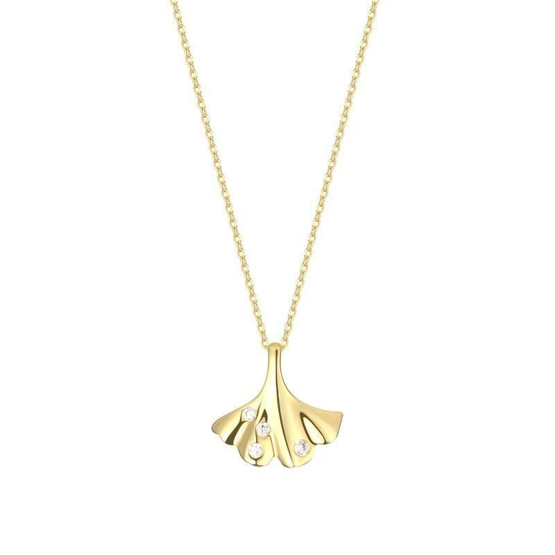 LacePartyGo necklace pendant ginkgo leaf Doris