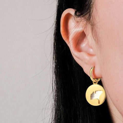 LacePartyGo earring hoop gold Muses back and side size image