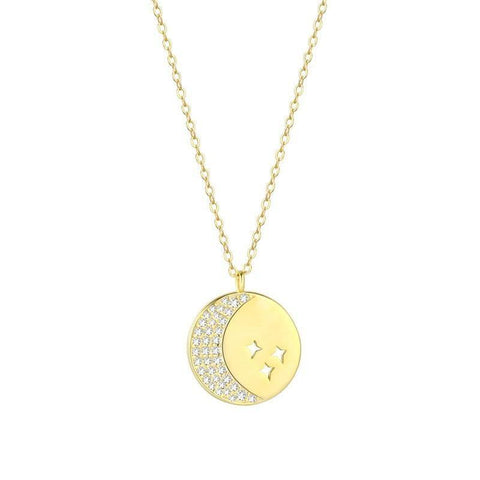 LacePartyGo necklace pendant coin gold Hera