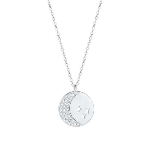 LacePartyGo necklace pendant coin white gold Hera