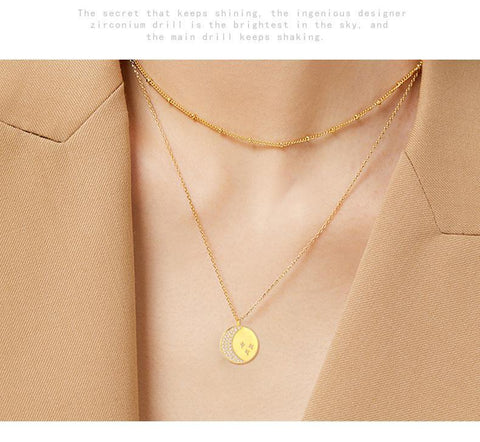 LacePartyGo necklace pendant coin gold Hera size