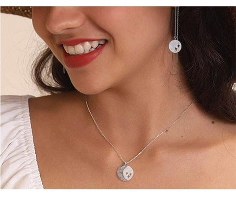 LacePartyGo necklace pendant coin white gold Hera close image