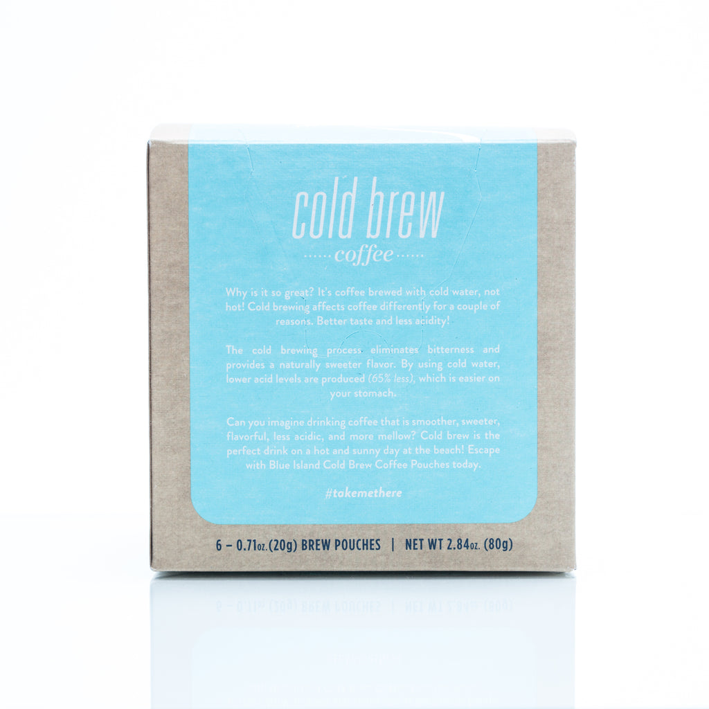 Beach Bungalow Cold Brew Pouches - ORGANIC (6 ct. box) - Blue Island Coffee