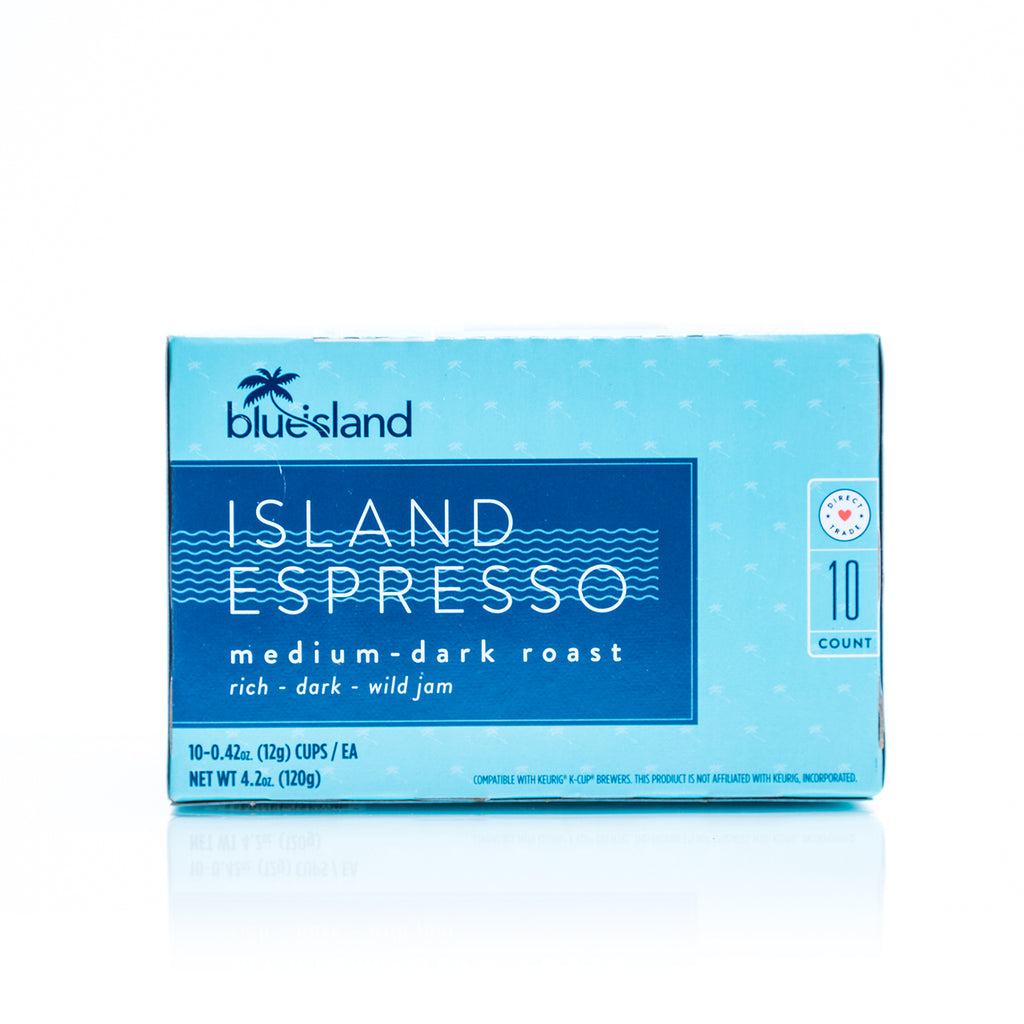 Island Espresso Recyclable K-Cups (Med/Dark Roast) - Blue Island Coffee