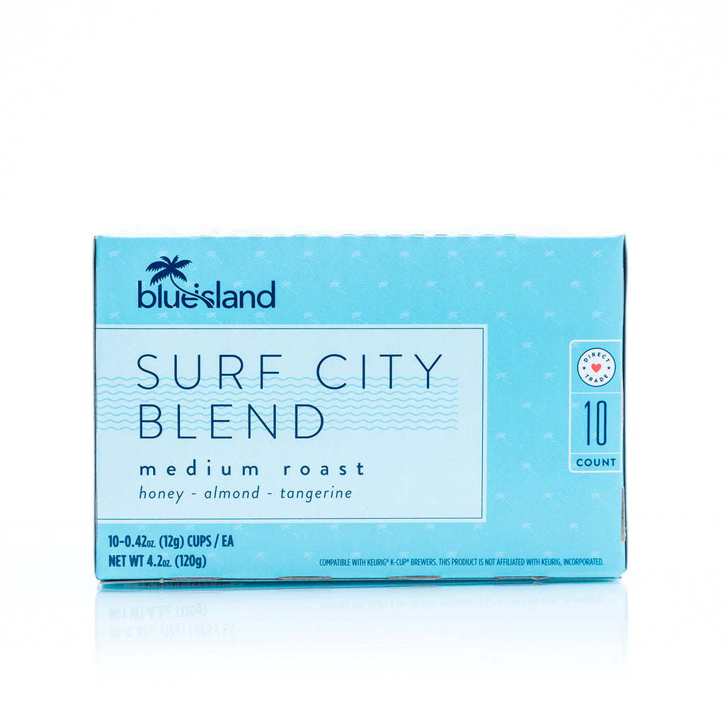 Surf City Recyclable K-Cups (10 ct. box) - Blue Island Coffee