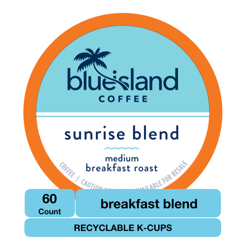BULK BUY: Sunrise Blend Recyclable K-Cups Case (6/10 ct) - Blue Island Coffee