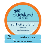 BULK BUY: Surf City Recyclable K-Cups - Blue Island Coffee