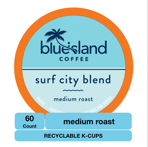 BULK BUY: Surf City Recyclable K-Cups Case (6/10 ct) - Blue Island Coffee