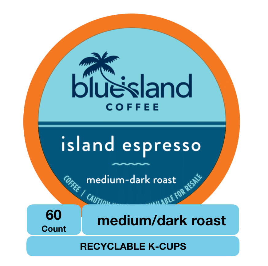 BULK BUY: Island Espresso Recyclable K-Cups - Blue Island Coffee
