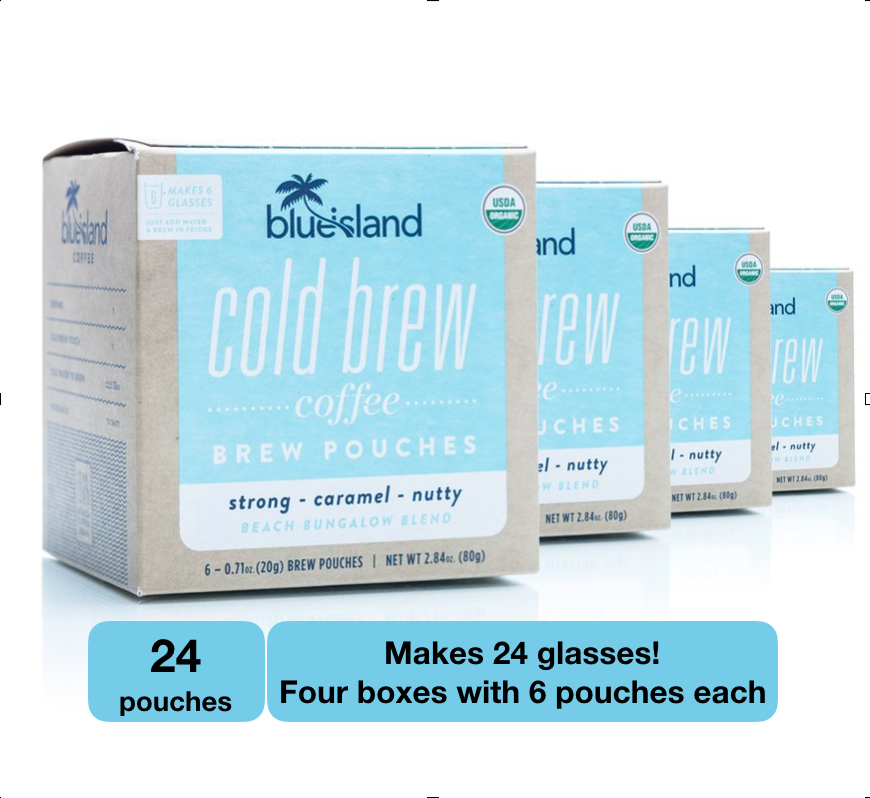 BULK BUY: Beach Bungalow Cold Brew Pouches Case (4/6 ct) - Blue Island Coffee