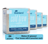 BULK BUY: Deep Blue Cold Brew Pouches Case (4/6 ct) - Blue Island Coffee