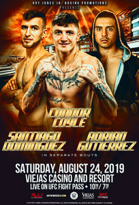 RJJ Boxing Promotions Presents: Connor Coyle, Santiago Dominquez, Adrian Gutierrez Bleacher Seats