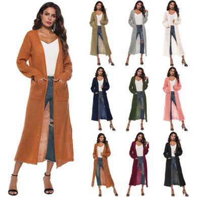 Women Fashion Slim V Neck Long Sleeve Sweater Elegant Outwear Cardigan 2020 Autumn Casual