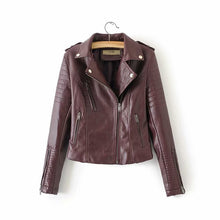 Load image into Gallery viewer, Snake Skin Printed Faux Leather Women's Jacket Coat Moto Biker Vintage Streetwear 2020 Autumn Fall