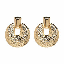Load image into Gallery viewer, Large 21 Design Metal Vintage Water Drop Earrings ZA Gold Silver Color Statement Earrings Modern