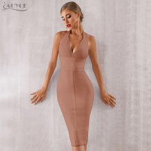 Load image into Gallery viewer, Adyce Sexy Bandage Dress Vestido Bodycon Lace Spaghetti Strap Club Midi Celebrity Runway Party